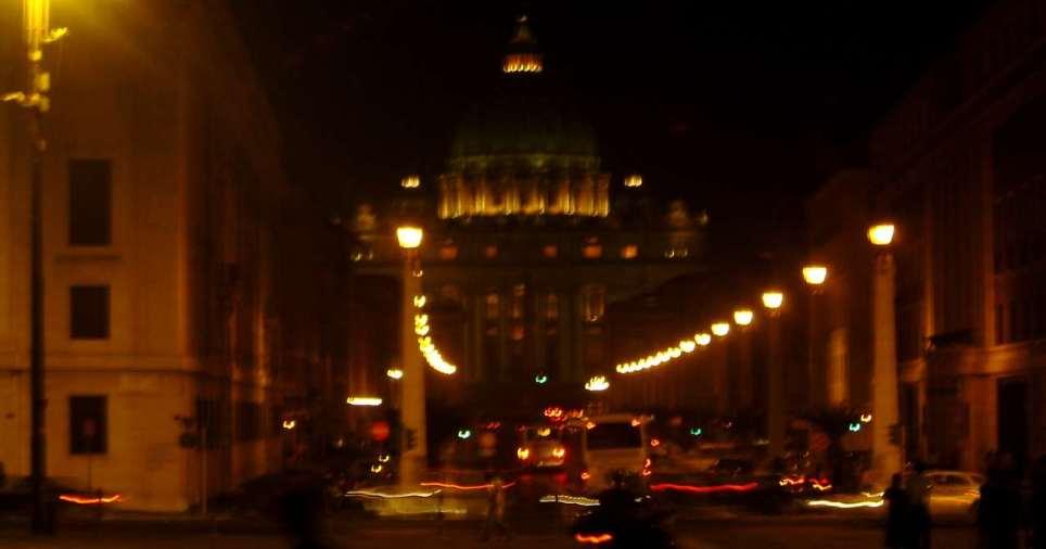Stadtansicht Rom bei Nacht